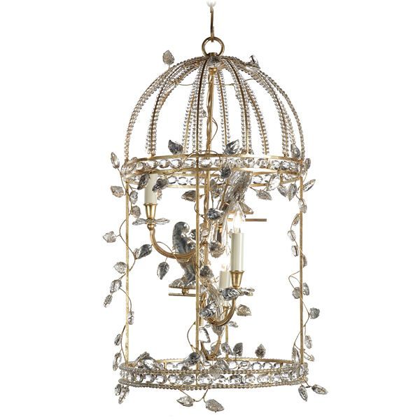 Charming Baguès Iron Crystal chandelier available through AndreaFisherDesign.com  #frenchlighting #maisonbagues #frenchchandelier #frenchbirdcage