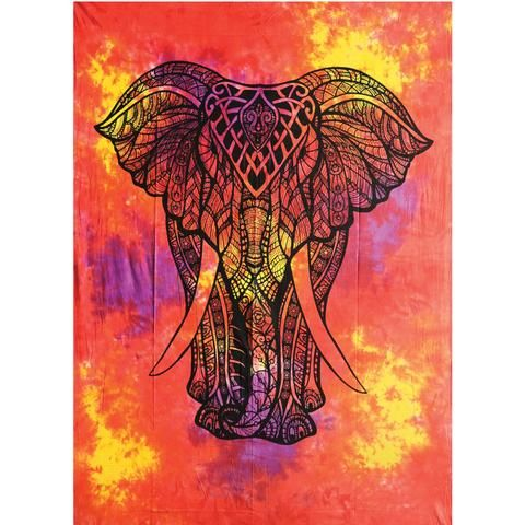 King Elephant Tapestry - Assorted Colours