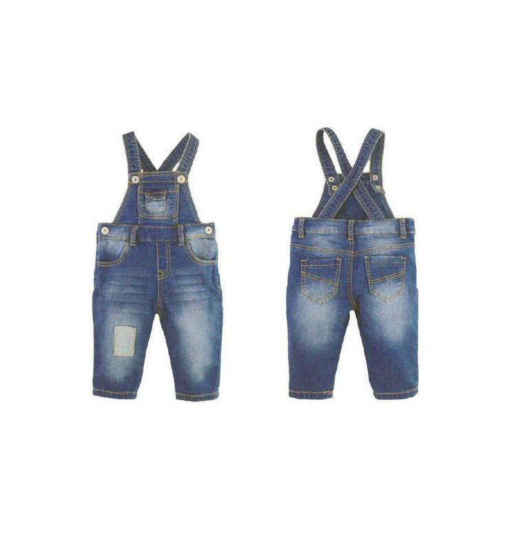 Smart - Overall Stretch Denim - Celana Bayi dan Anak. Tersedia dalam ukuran : 6 bulan, 9 bulan, 1 tahun, 18 bulan, 2 tahun.