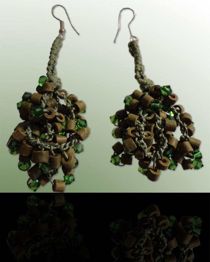 Emerald: Wear these handcrafted earrings by BRizzy with a feminine glamour accented the elegance.