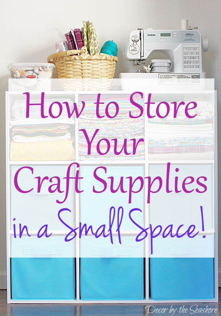 Learn how to organize and store your craft supplies in a small space! These helpful craft storage tips are perfect for small home and apartment living!