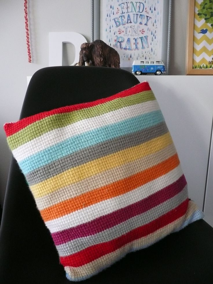 Tunisian Crochet Pillow idea