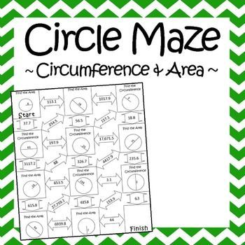 359 best math ideas images on pinterest teaching ideas teaching this is a maze composed of 11 circles that students must find the area or circumference of some circles have a radius while others have a diameter ccuart Gallery