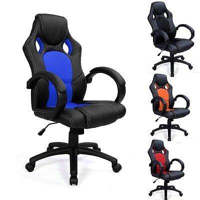LUXURY SPORTS RACING GAMING OFFICE COMPUTER EXECUTIVE LEATHER CHAIR - RRP £99.99 4th