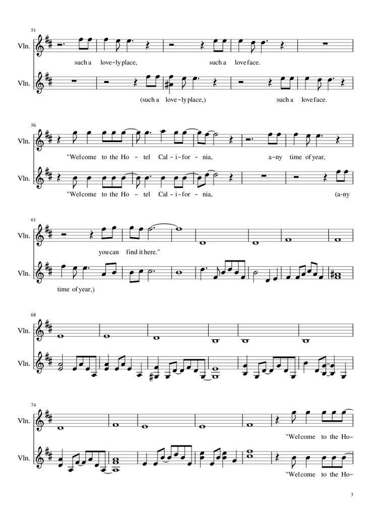 Sheet music made by jkwatson for 2 parts: Violin