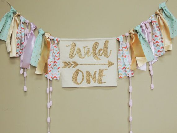 This Wild One Boho Banner would make an adorable addition to your little girls birthday party! Hang it as a back drop at the party or for her birthday