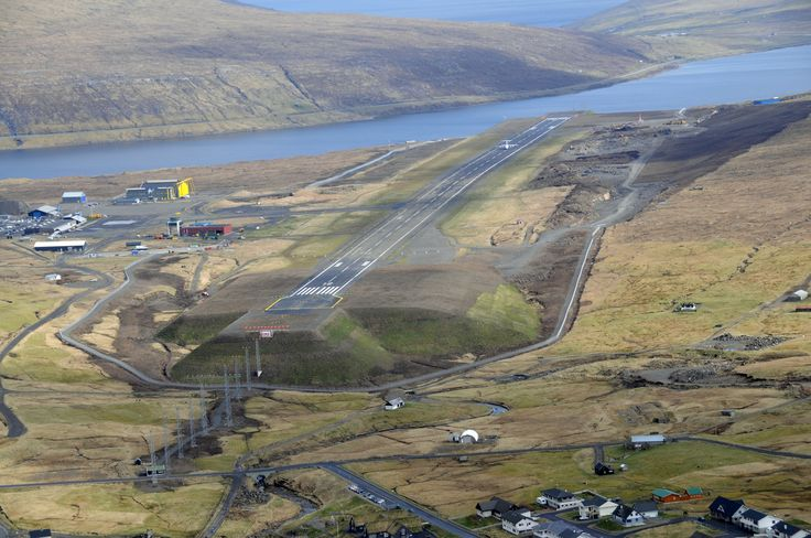 Faroe Islands Airport:  The Faroe Islands only have one airport which was built during 1941 by British Army Engineers, for the use by allies during World War II.