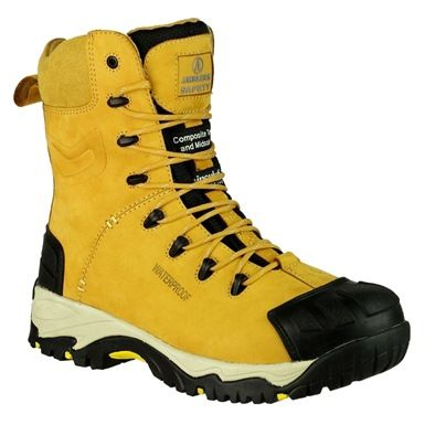 These Amblers FS998 Composite Waterproof Safety Boots are made from Nubuck leather with a Thinsulate lining. Some of the attributes of this metal free boot are that it's waterproof, antistatic, slip resistant and comes complete with a side zip for easy on off.