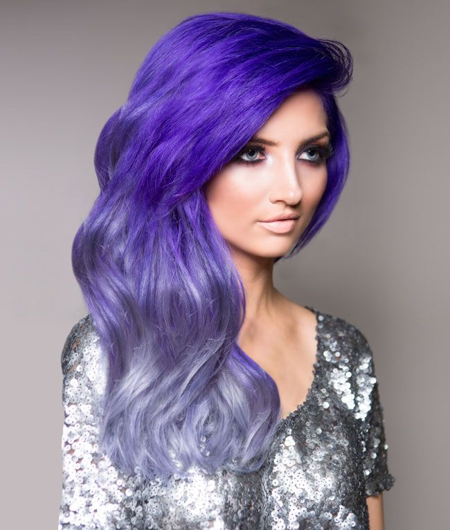 image of how to purple silver urban ombre hair color. Black Bedroom Furniture Sets. Home Design Ideas