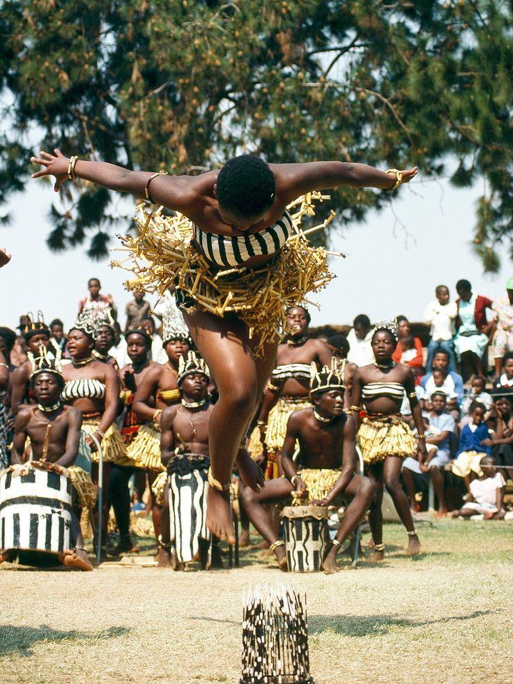 Africa | Ndebele Dancers, Midlands, Zimbabwe.