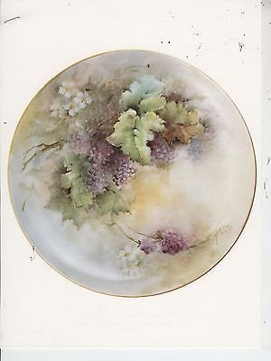 Boysenberry Plate by Helen Humes China Painting Study