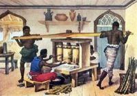 Escravos trabalhando num engenho de açúcar ( Debret) Escravidao no Brasil