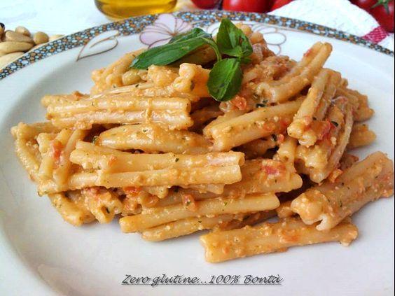 Pasta fredda con pesto alla siciliana   zero glutine...100% Bontà