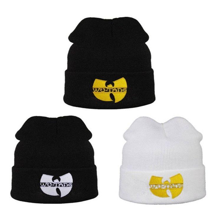 Fashion WU TANG CLAN Men's Hats Unisex Winter Warm Beanies Hat for Women Men Outdoor Casual Hip Hop Black Knitted Bonnet Ski Cap