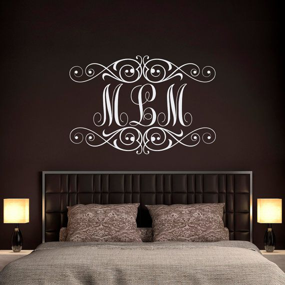 Monogram Wall Decor Ideas : Best ideas about monogram bedroom on