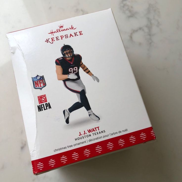 J J Watt 2017 Hallmark NIB  Christmas Ornament NFL Houston Texans Football #Hallmark #jjwatt #houstantexans #nfl #football #pewaukee #UW #wi