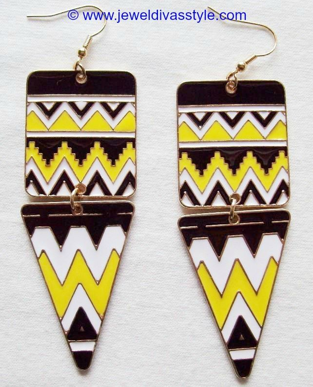 JDS - GOLD AZTEC EARRINGS - http://jeweldivasstyle.com/my-personal-collection-gold-multi-jewellery/