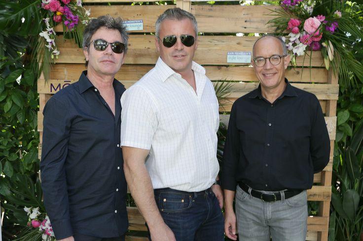 (L-R) Producer Jeffrey Klarik, actor Matt LeBlanc and producer David Crane attend Kari Feinstein's Style Lounge at Sunset Marquis Hotel Villas on September 18, 2015 in West Hollywood, California