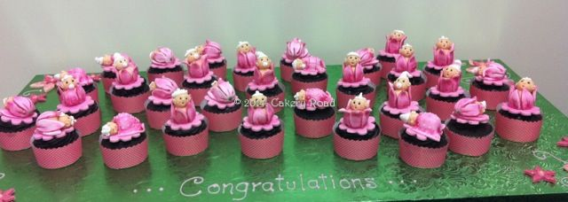 Pretty Pink Baby Girl Cup Cakes
