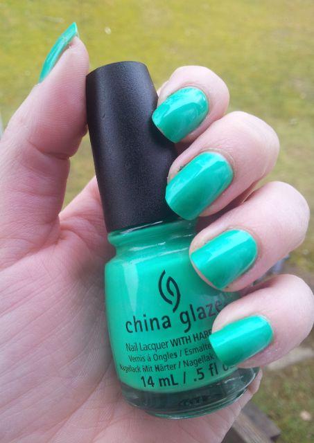 MY MIXED NAILPOLISH: China glaze - in the lime light