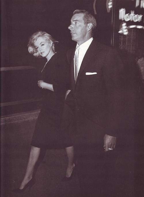 Marilyn Monroe & Joe DiMaggio...1962 (He was my favorite of her husbands...)