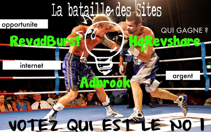 la bataille des site revadburst vs adbrook vs hqrevshare qui gagne ? sem...