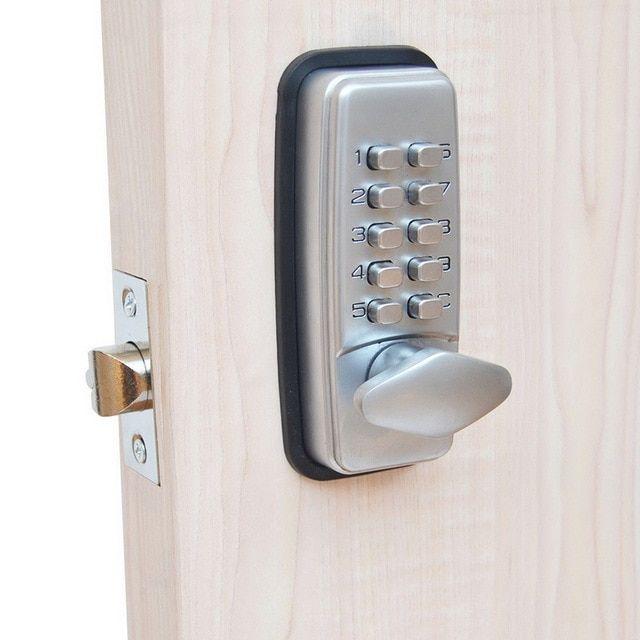 Password Entry Door Locks Keyless Security Zinc Alloy Waterproof With Digital Machiner Wireless Home Security Systems Home Security Systems Smart Home Security