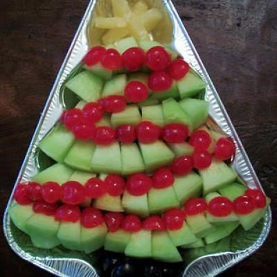 Christmas Tree Fruit Tray... Great idea for a fruit tray!