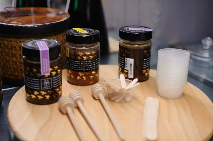 """The truth is it will be impossible not to get """"stuck"""" on the 1st floor considering it is """"dripping"""" with #honey and precious #bee products such APIGEA Bee Hive Limited Edition Honey that the visitor can taste and buy. #theAPIVITAexperienceStore #Apivita #NaturalProducts #InteriorDesign #Architecture"""