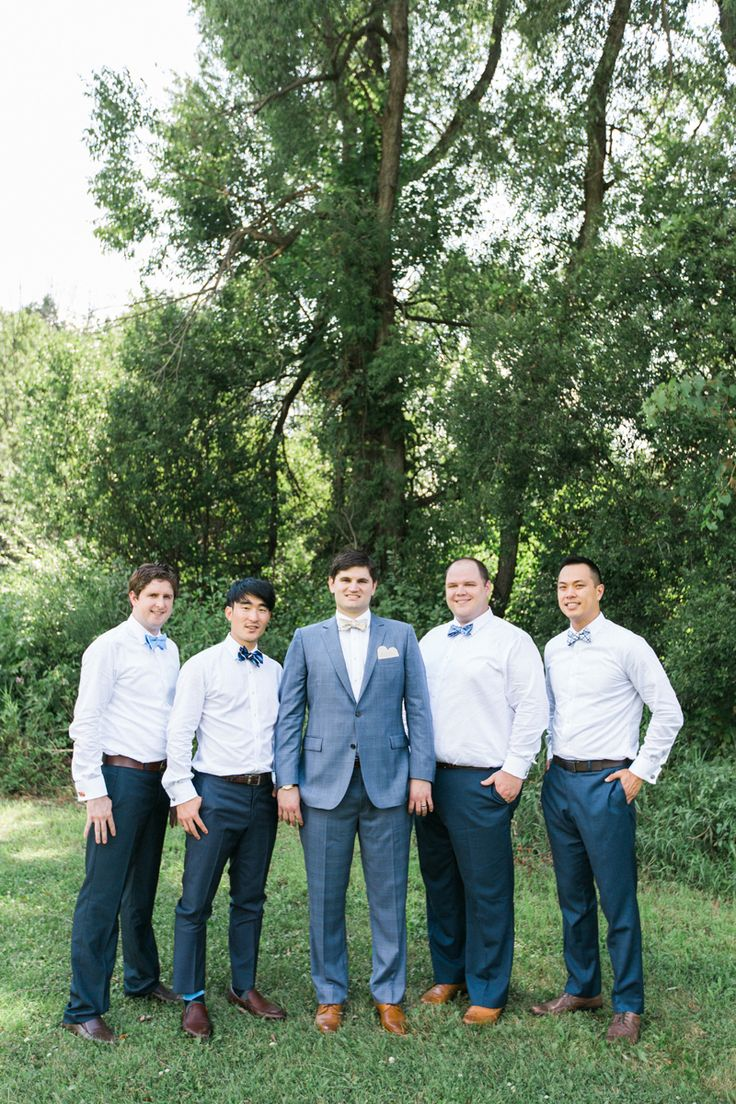 Handsome Groomsmen at Romantic Mint and Serenity Blue Farm Wedding | The Majestic Vision Wedding Planning | Private Residence in Milwaukee, WI | www.themajesticvision.com | Elizabeth Haase Photography