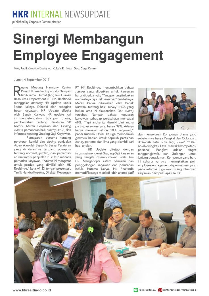Sinergy Membangun Employee Engagement.
