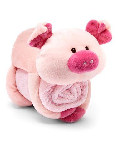 Love this Pink Pig Blanket Buddies Set on #zulily! #zulilyfinds