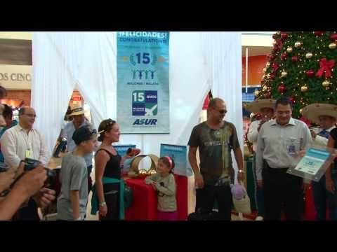 The Cancun International Airport had its 15 millionth passenger!