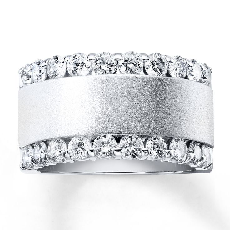 This contemporary anniversary band for her features rows of brilliant round…