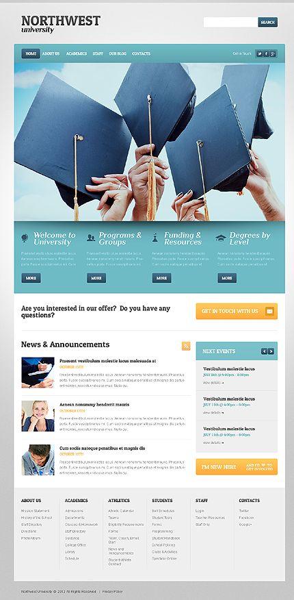 Northwest University WordPress Themes by Elza