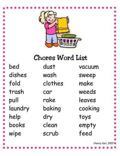 8 ways to use a chore list for #kids to get a little help around the house