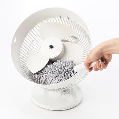 こうやってホコリを掃除できるの重要ですよね! / サーキュレーター(低騒音ファン・大風量タイプ)・ホワイト