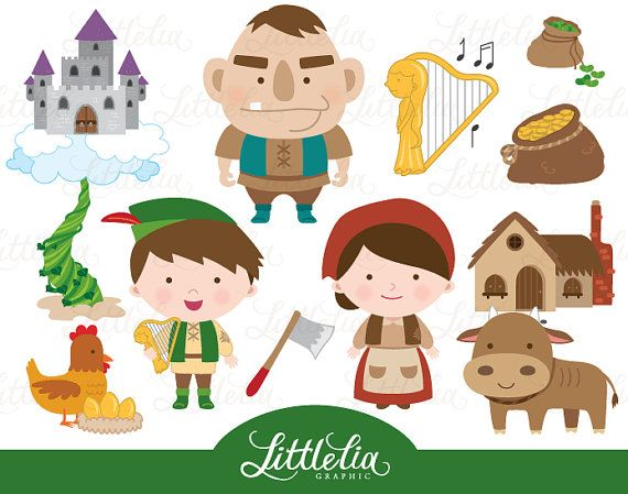 Jack and the beanstalk clipart  fairytale by LittleLiaGraphic