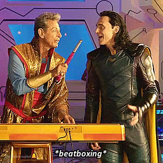 Thor: Ragnarok Gag Reel. Gif-set (by thehumming6ird.tumblr): http://thehumming6ird.tumblr.com/post/171053405220/thor-ragnarok-gag-reel-loki-edition-pt-4 #TomHiddleston #Loki #ThorRagnarok