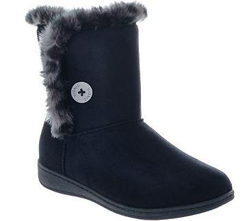 Vionic Orthotic Slipper Boots - Fairfax - A272051 — QVC ...