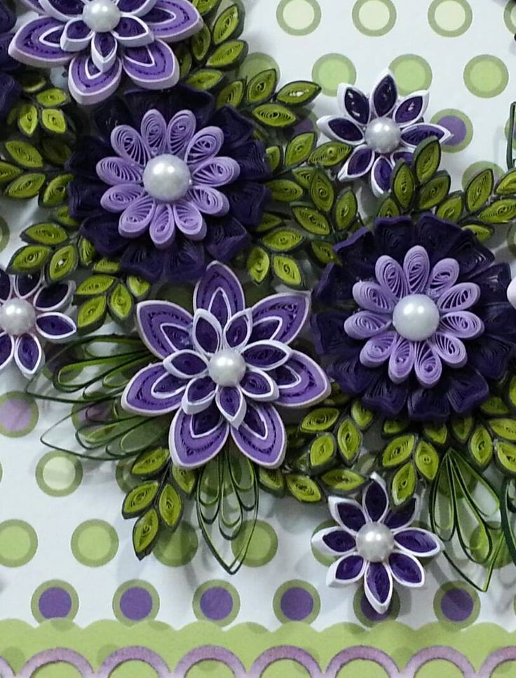 1559 best quilled flowers images on pinterest paper for Big quilling designs