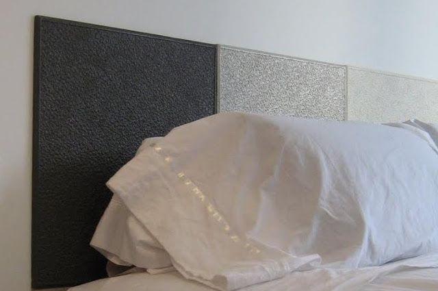 Un cabecero con planchas de corcho = < 10€ : x4duros.com