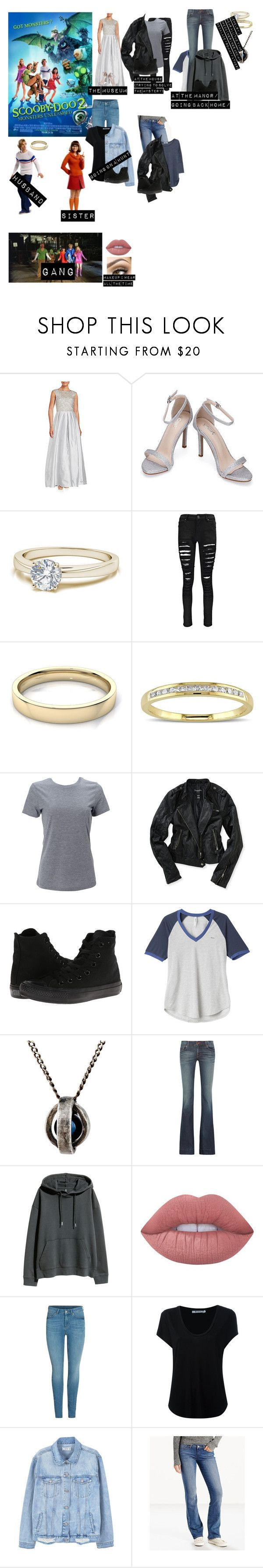 """""""Me in: 'Scooby Doo 2' [re-made]"""" by j-j-fandoms ❤ liked on Polyvore featuring Aidan Mattox, Boohoo, Miadora, Simplex Apparel, Aéropostale, Converse, RVCA, title of work, J Brand and H&M"""