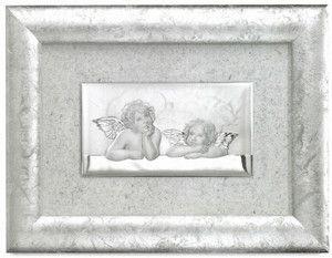 Srebrny obraz w ramie Aniołki Raffaella stanowi piękny prezent na wiele okazji. #slub #rocznica #jubileusz