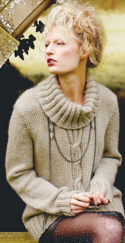 Women's sweater knitting pattern free