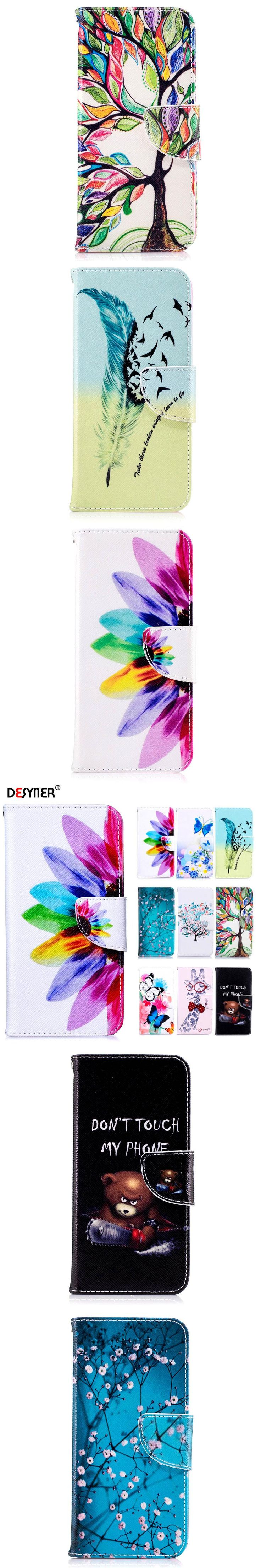 Desyner Case For Samsung S3 S4 S5 S6 S7 S8 Edge Plus Note 3 4 5 J1 J2 J3 J5 J7 A3 A5 G530 G360 PU Leather Wallet Case Cover