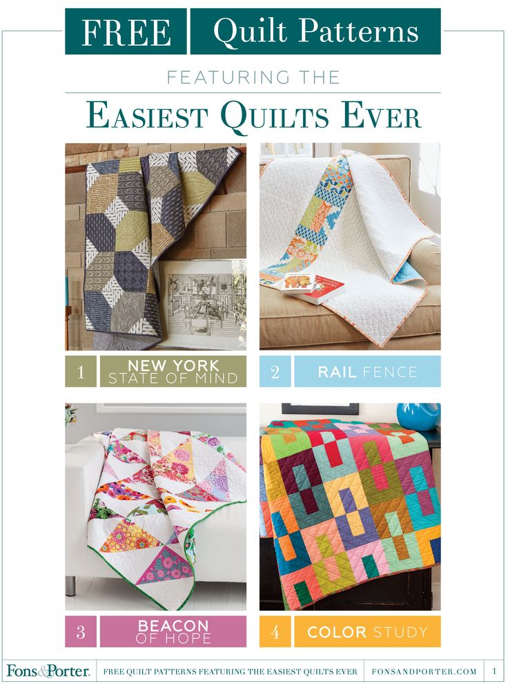 Free Quilt Patterns featuring the Easiest Quilts Ever