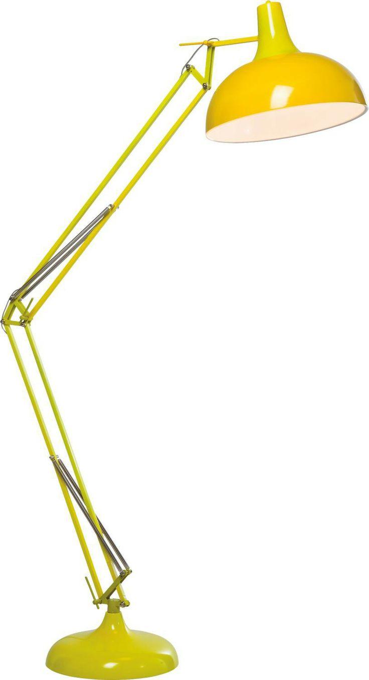 KARE Design Stehlampe Office Form einer Schreibtischlampe überdimensional Gelb