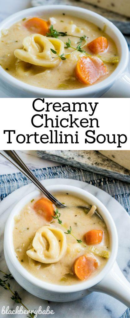 Creamy Tortellini Soup   Creamy Chicken Soup   Creamy Chicken Tortellini Soup   Chicken Leek Soup   Chicken Pasta Soup   Soup Recipe   Tortellini Soup Recipe   #soup #tortellini #creamysoup #leeks #leeksoup