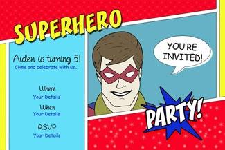 Superhero Party Invitation © Purple Jungle Designs 2013